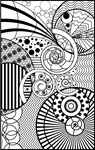 InSPIRALed Adult Colouring Page