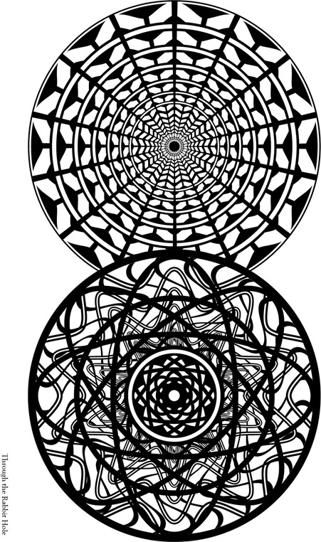 Through the Rabbit Hole Adult Colouring Page