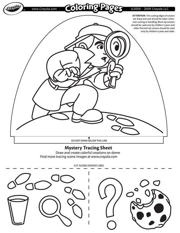 Mystery Search coloring page