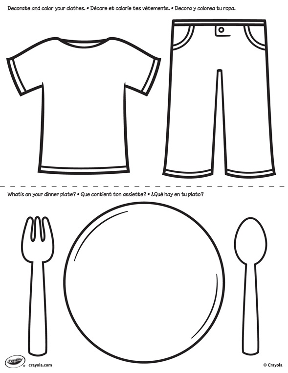 First Pages Clothes And Plate