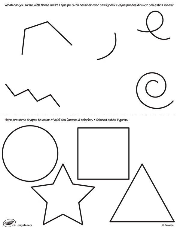 First Pages Lines And Shapes