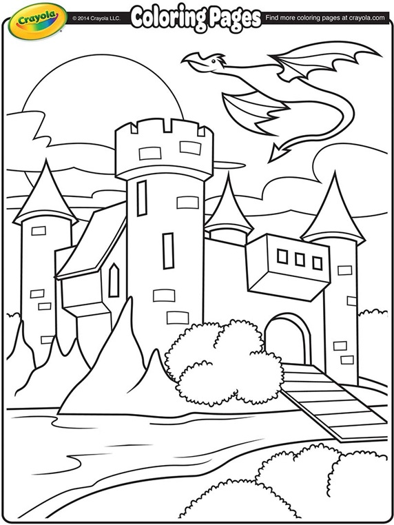 Medieval Castle and Dragon | crayola.ca