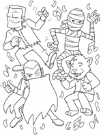 Moon Monster coloring page