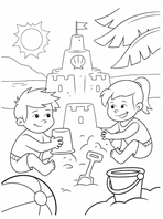 Beach Stencils coloring page