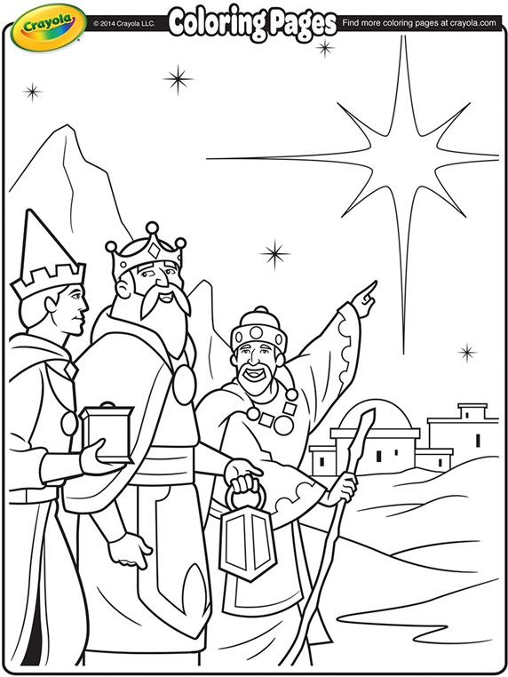 Christmas Shepherds coloring page