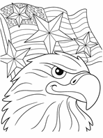 Canada Leaf Wreath coloring page