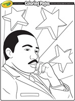 Martin Luther King, Jr. Day coloring page