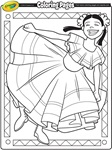Mexican Festival Flags coloring page