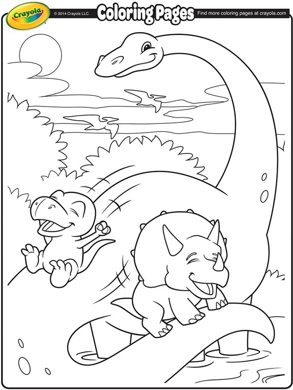 Dino - Dentist coloring page