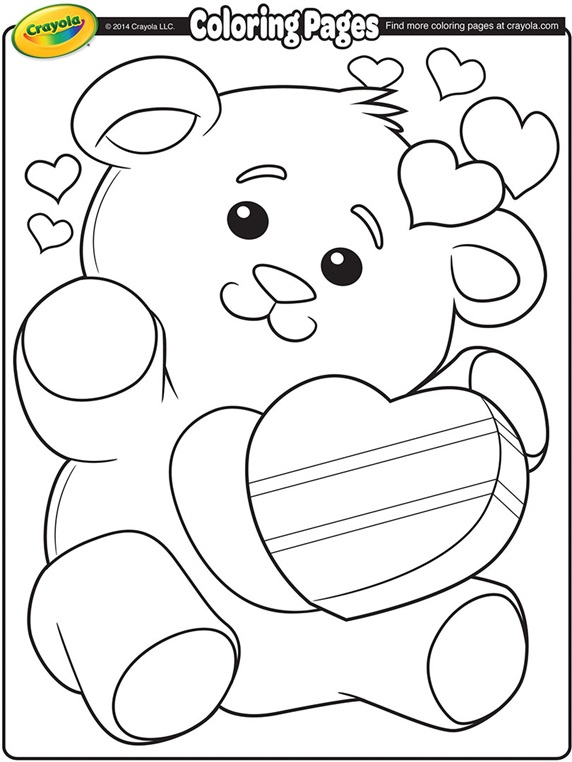 Dynamic image inside printable valentine coloring page