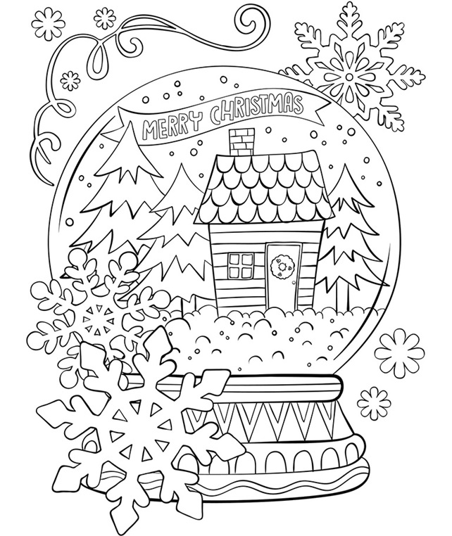 Merry Christmas Snow Globe crayolaca