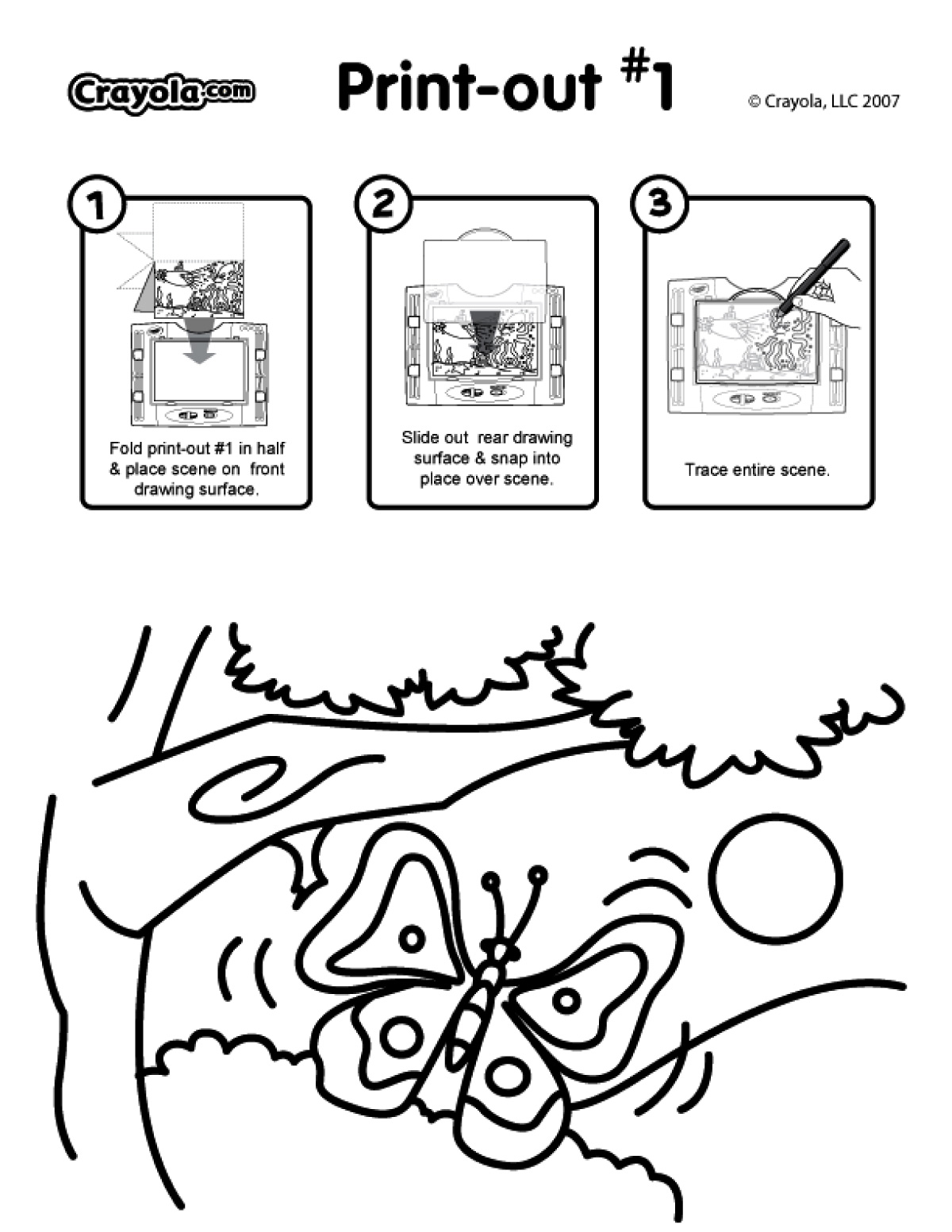 See Thru Light Designer Scenes Coloring Pages