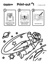 Jetpack coloring page