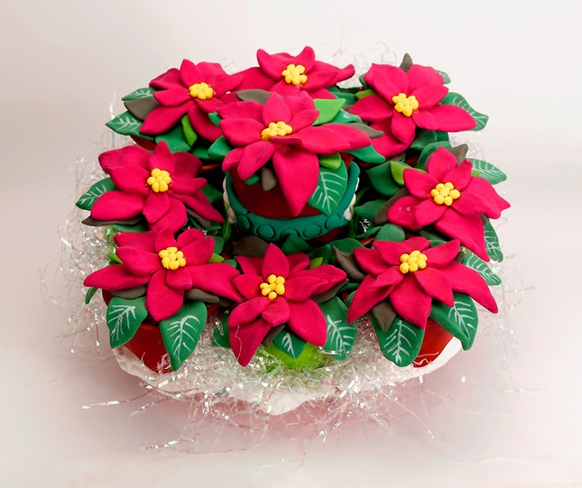 Blooming Poinsettia craft