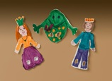 Kiss-a-Frog Finger Puppets craft