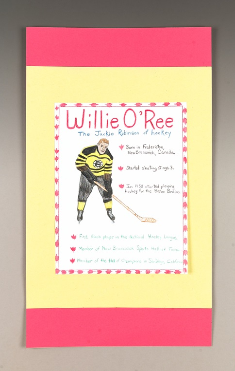 Hurray for Hockey's Willie O'Ree craft