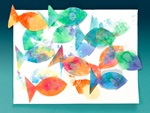 Pop-Up Fish Prints craft