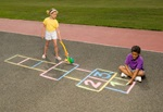 Roll Out Hopscotch craft