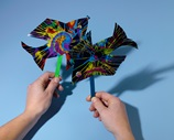 Flying-Fish Stick Puppets craft
