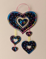 Dangling Hearts Mobile craft