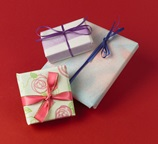 Air-Brushed Gift Wrap craft