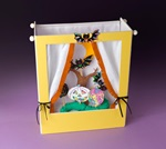 Stage Fright! Ghost & Bat Puppets craft
