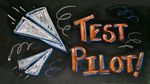 Test Pilot With Paper Airplanes craft
