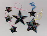 Neon Starfish Danglers craft