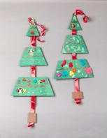 Christmas Triangle Tree Trimming craft