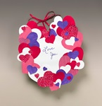 Hundreds of Hearts Wreath craft
