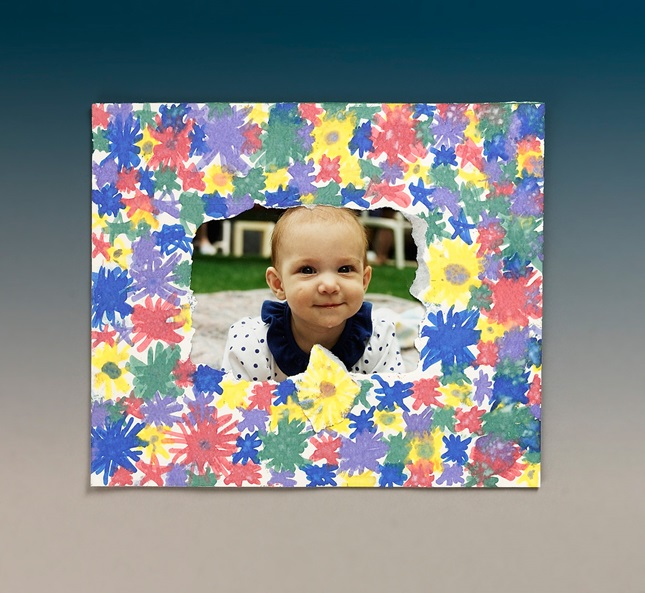 Bright Borders Picture Frame craft