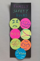 Family Safety Rules Poster craft