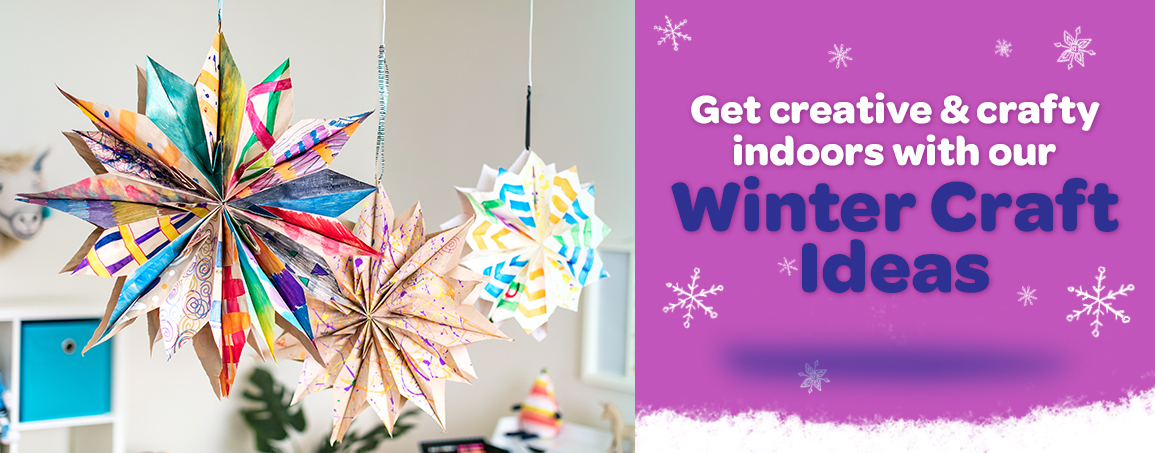 Get creative and crafty indoors with our winter craft ideas