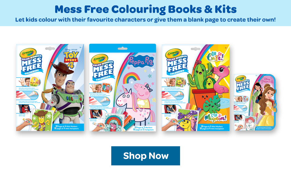 Mess Free colouring books and kits