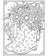 Spring Time Friends coloring page