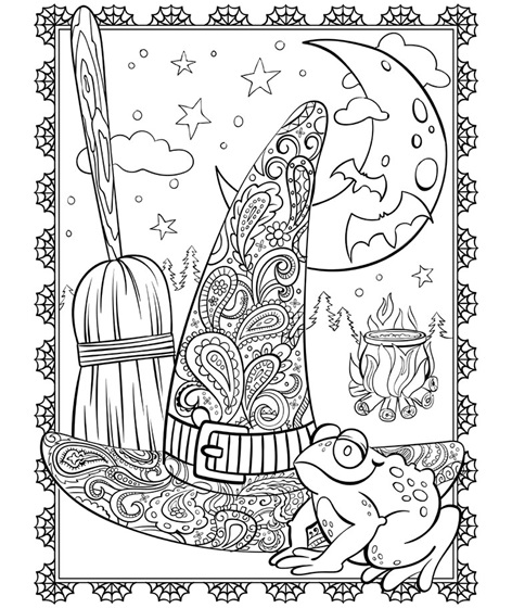 Halloween Sign of Spider Webs coloring page