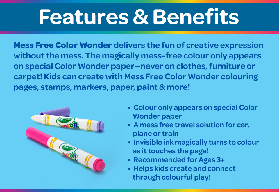 Color Wonder Features and Benefits