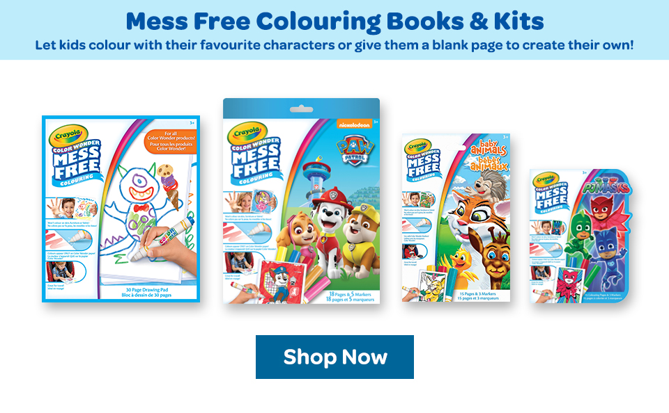 Mess Free Color Wonder Colouring Books and Kits