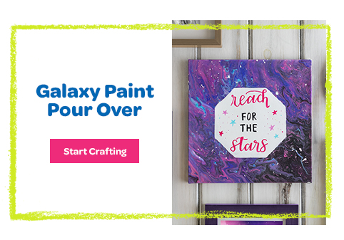 Galaxy Paint Pour Over