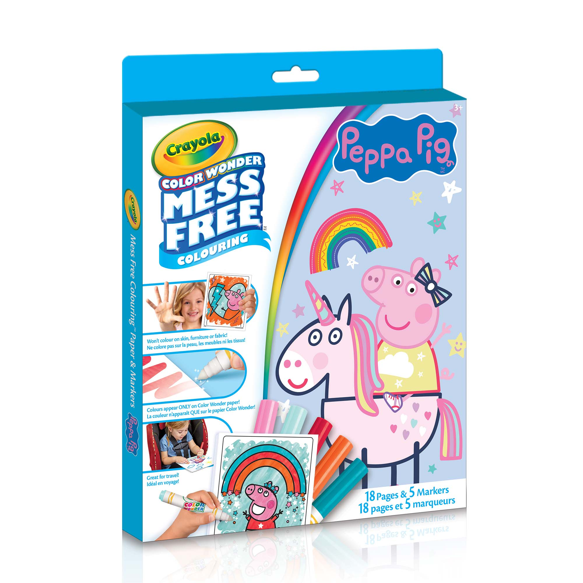 Color Wonder Mess-Free Colouring Book & Markers Kit, Peppa Pig Crayola.ca