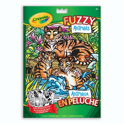 Fuzzy Animals Colouring Book
