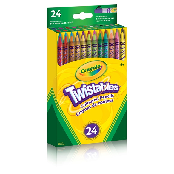 24 Count Twistable Coloured Pencils