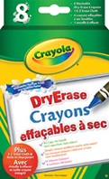 Crayola® 8 ct Washable Dry-Erase Crayons