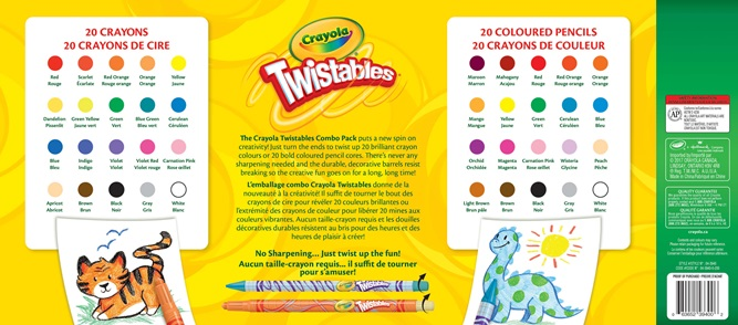 40 Twistables coloured pencils and crayons package