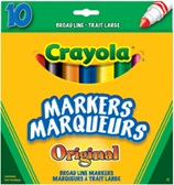 10 ct. Crayola Classic Broad Line Markers