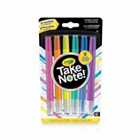 6 erasable highlighters