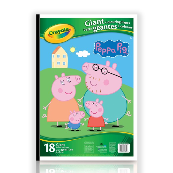 Giant Colouring Pages Peppa Pig Crayola Ca