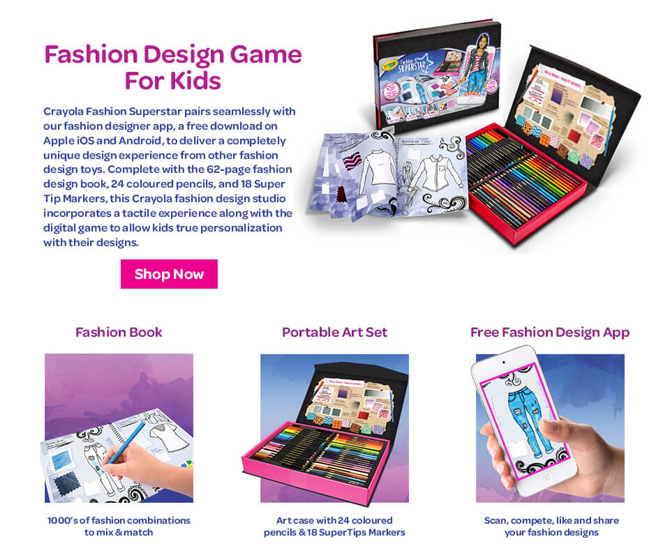 Fashion superstar game for kids