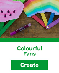 colourful fans
