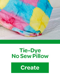 tie-dye no sew pillow